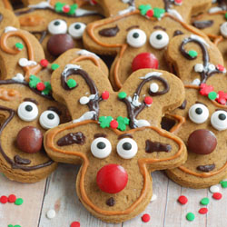 Reindeer Gingerbread Cookies