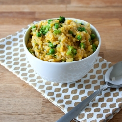 Risotto with Peas and Greens Recipe