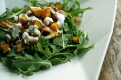 Roasted Beet and Bulgur Salad with Goat Cheese Dressing Recipe
