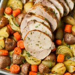 Roasted Pork Loin and Vegetables