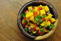 Roasted Red Pepper and Mango Salsa