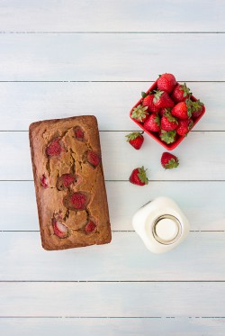Roasted Strawberry Banana Bread