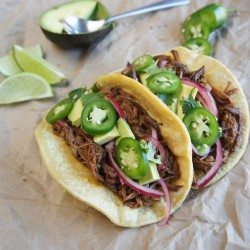 Root Beer Braised Brisket Tacos