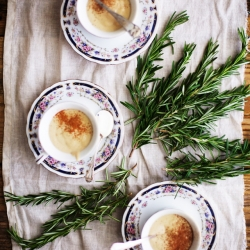 Rosemary and Green Tea Hot White Chocolate Recipe