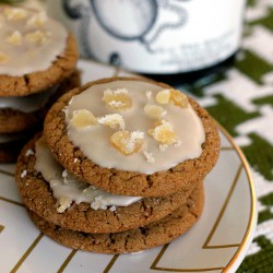 Rum Glazed Ginger Molasses Cookies Recipe