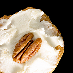 Rum-Frosted Pecan Shortbread Cookies Recipe