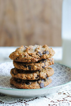 Rye, Maple Chocolate Chip Cookies