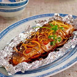 Salmon in Soy Sauce
