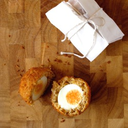 Salted Cod Scotch Eggs