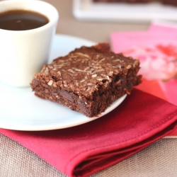 Salted Dark Chocolate Brownies