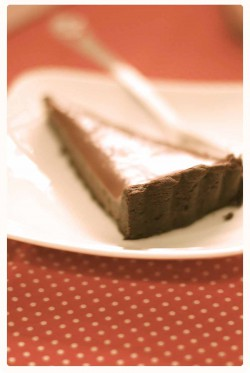 Salted-Caramel Dark Chocolate Tart