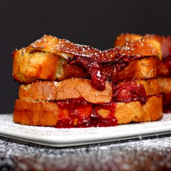 Sangria Stuffed French Toast