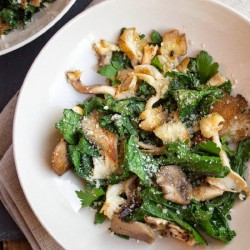 Savory Sauteed Mushrooms and Kale