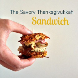 Savory Thanksgiving Latke Sandwich