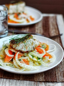 Seared Sea Bass with Fennel and Orange Recipe