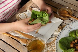 Sesame Garlic Ginger Tofu Lettuce Wraps Recipe
