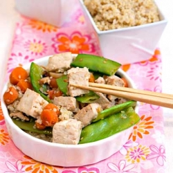 Sesame Tofu with Spring Vegetables