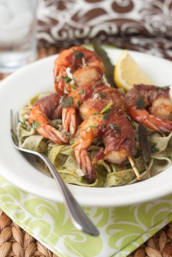 Shrimp Saltimbocca