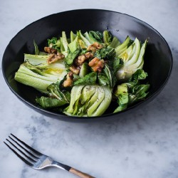 Simple Roasted Baby Bok Choy