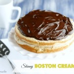 Skinny Boston Cream Pie