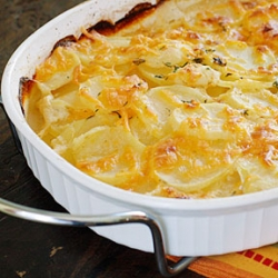 Skinny Scalloped Potatoes Gratin