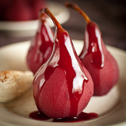 Slow Cooked Pears in Red Wine Sauce