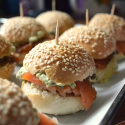 Smoked Salmon Brie Sliders Recipe