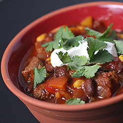 Southwest Steak Chili