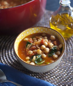Spanish Chickpea and Spinach Stew with Ginger Recipe