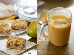 Spiced Pear Bars w/ Dulce de Leche