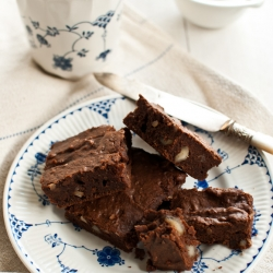Spiced Sweet Potato Brownies