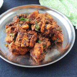 Spicy Chicken Fry with Garam Masala and Chilis Recipe