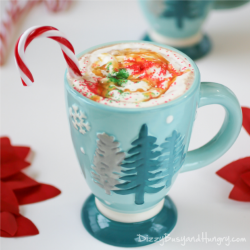 Spiked Butterscotch Hot Chocolate