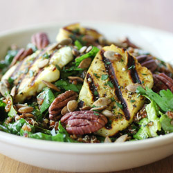 Spinach and Red Quinoa Salad