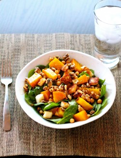 Spinach Salad with Beets Beans and Halloumi Recipe