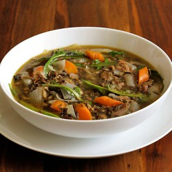 Spring Lamb Soup with Dandelion