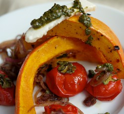 Squash with Tomatoes, Feta