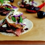 Steak Tacos Chipotle Cherry Salsa
