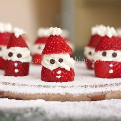 Strawberries and Cream Santas