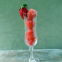 Strawberry Champagne Sorbet Recipe