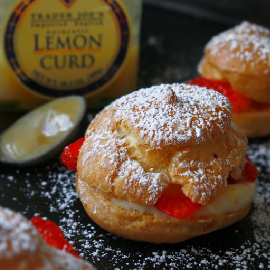 Strawberry Lemon Cream Puffs