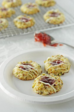 Strawberry Pistachio Cookies