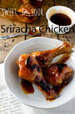 Sweet and Sour Sriracha Chicken