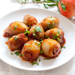 Sweet and Sour Stuffed Onions