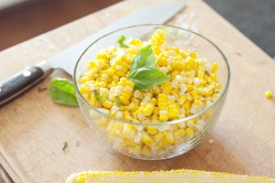 Sweet Corn with Sea Salt