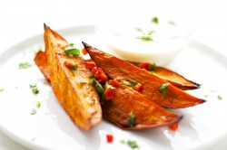 Sweet Potato Wedges with Lemongrass Dip Recipe