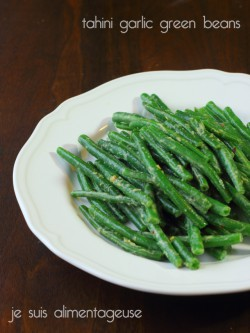 Tahini Garlic Green Beans Recipe