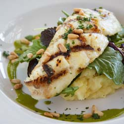 Tender Grilled Halibut