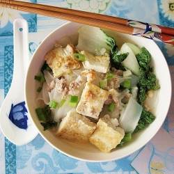 Teochew-Style Rice Noodles Soup