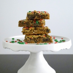 Toffee Chip Cookie Butter Bars Recipe